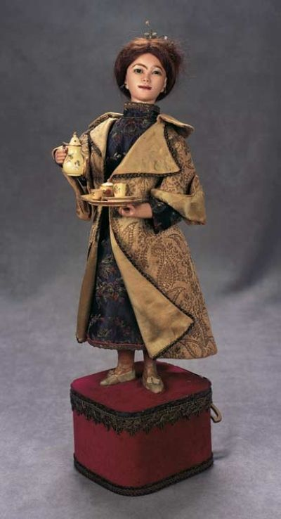 """The Great Man's Doll: 344 Rare French Bisque Automaton """"Chinese Tea Server"""" by Leopold Lambert"""