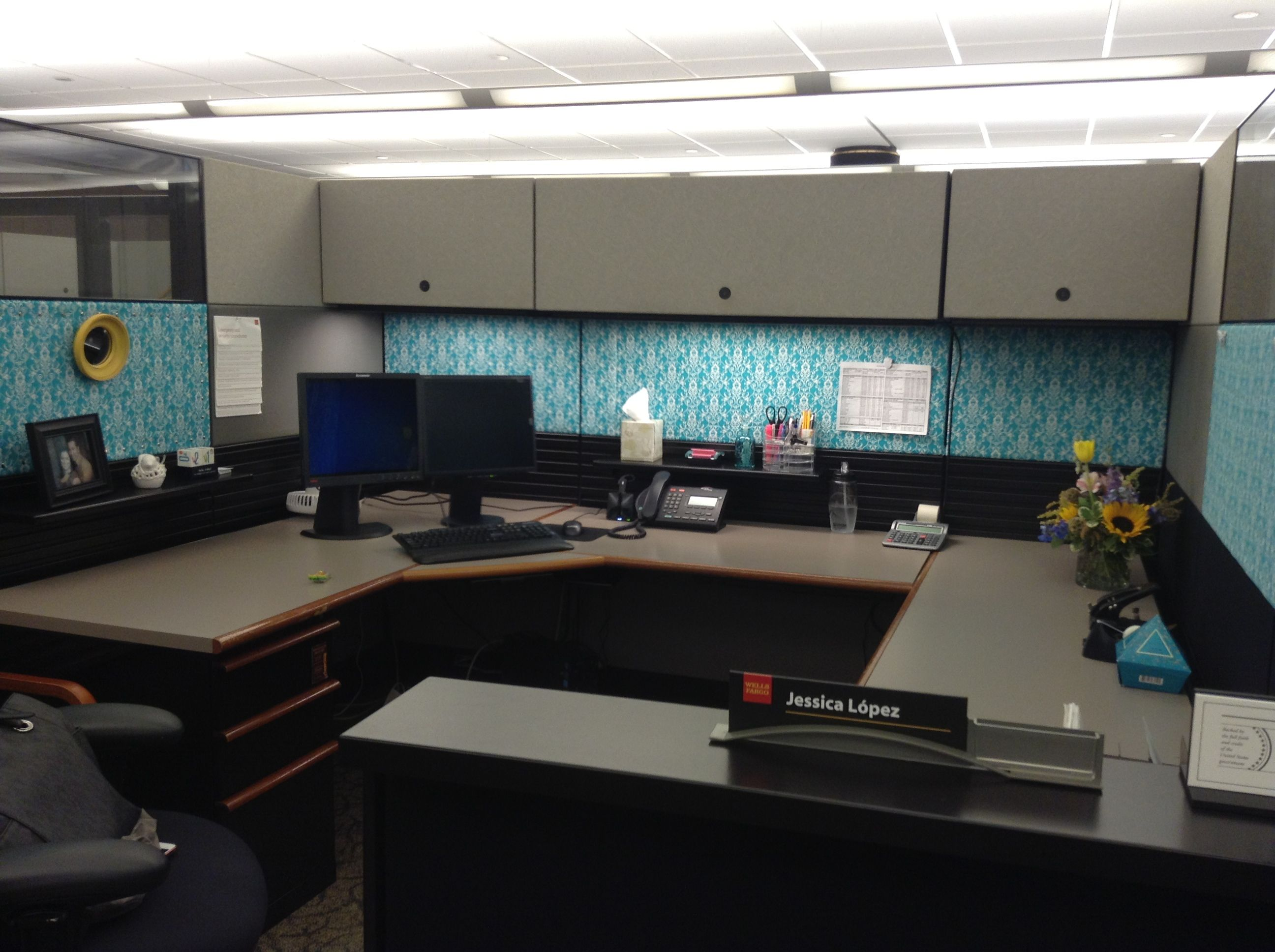 Cubicle Decor cubicle decor dual monitor - google search | work smart