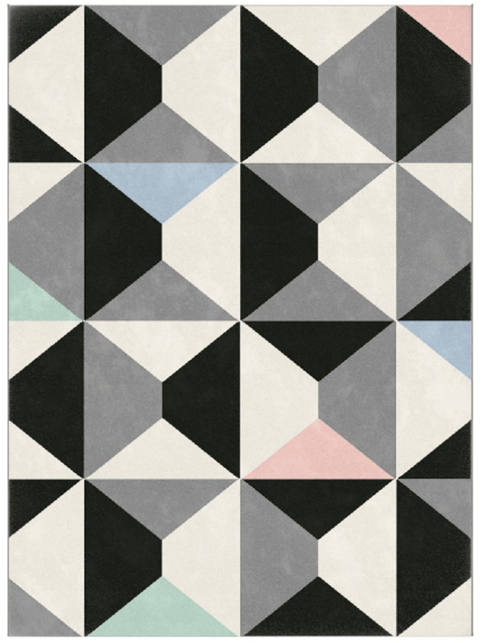 Dywan Komfort Oslo 120x170 Szary Bialy Roz Pastel Romby 18241 190 Contemporary Rug Rugs Contemporary