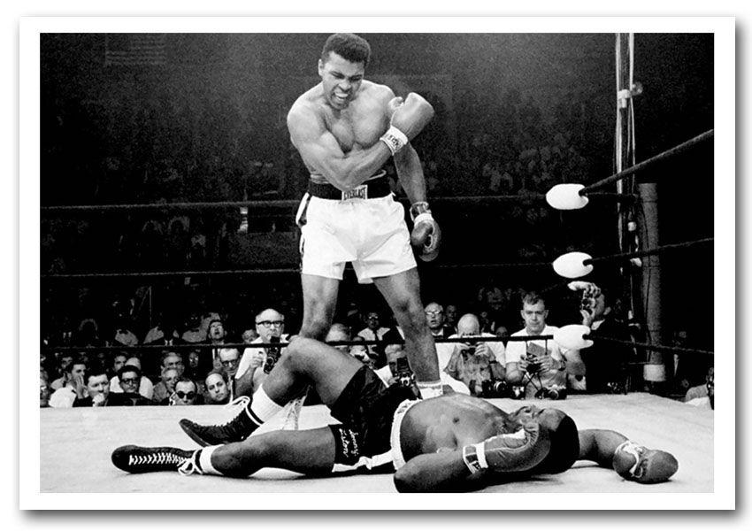 Muhammad Ali Knockout People Framed Art Giclee Art Print   Chad ...