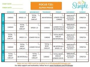 photograph relating to T25 Schedule Printable named Shaun T Notice T25 Exercise session - Overview and Printable Calendar