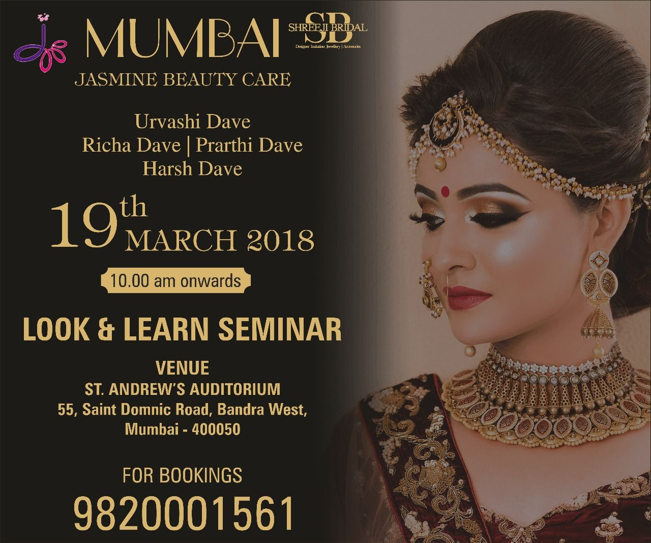 We Are Coming Up With Our New Look Learn Seminar At Mumbai On 19 March 2018 So Till Date Stay Tune With Us Performer Team Seminar Bride Makeup Beauty Care