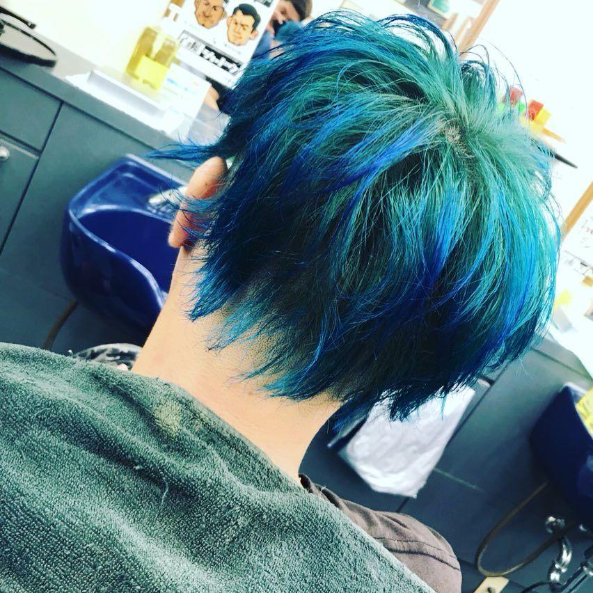 ご自慢の青い髪 派手髪 マニパニ ブルームーン レペゼン地球 Dj