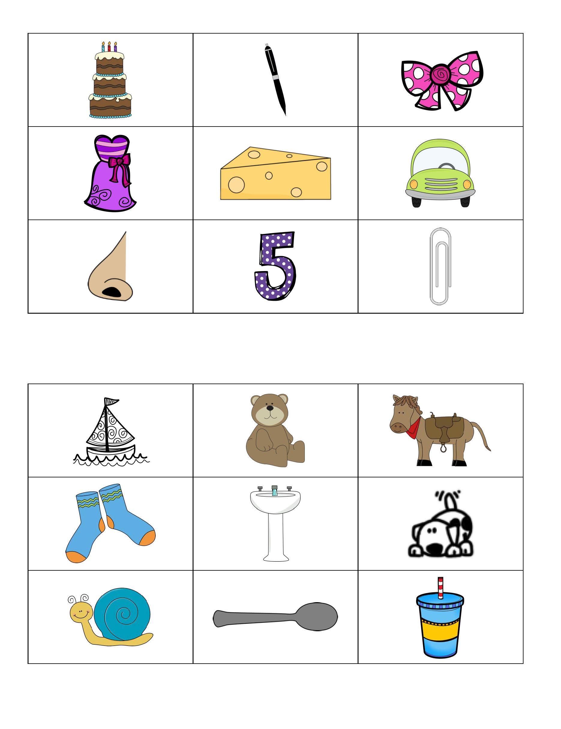 Phoneme Segmentation Fluency Practice Cards