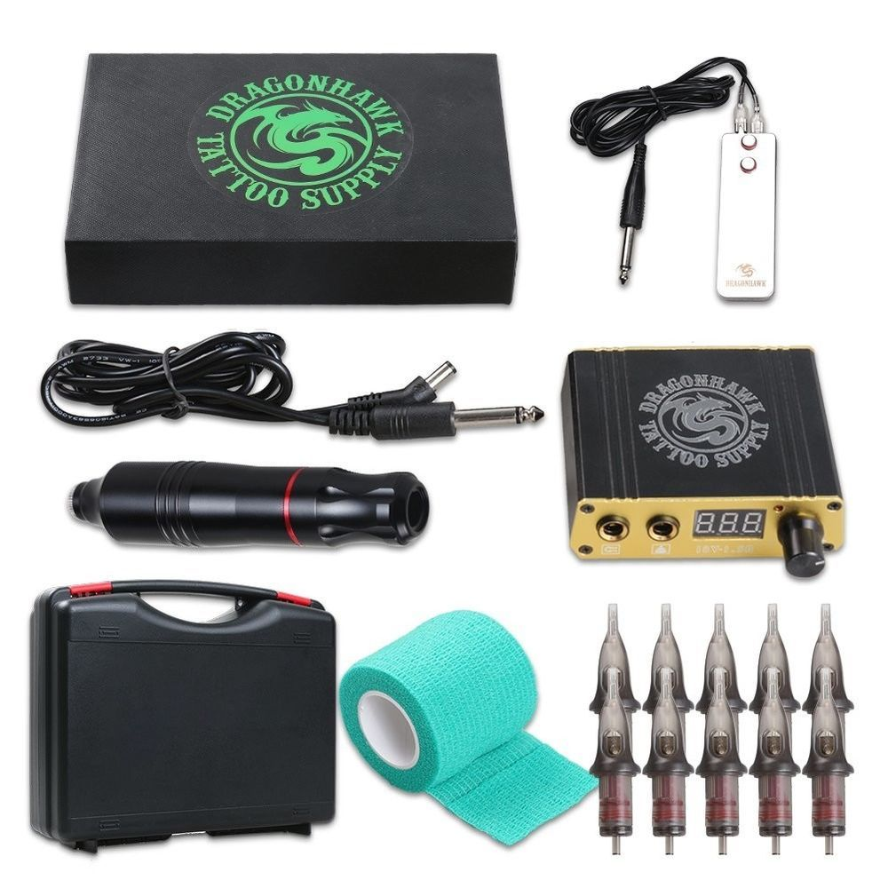 Dragonhawk Cartridge Tattoo Machine Kit Pen Rotary Tattoo Machine Cartridge  Need | Tattoo machine kits, Rotary tattoo machine, Tattoo machine