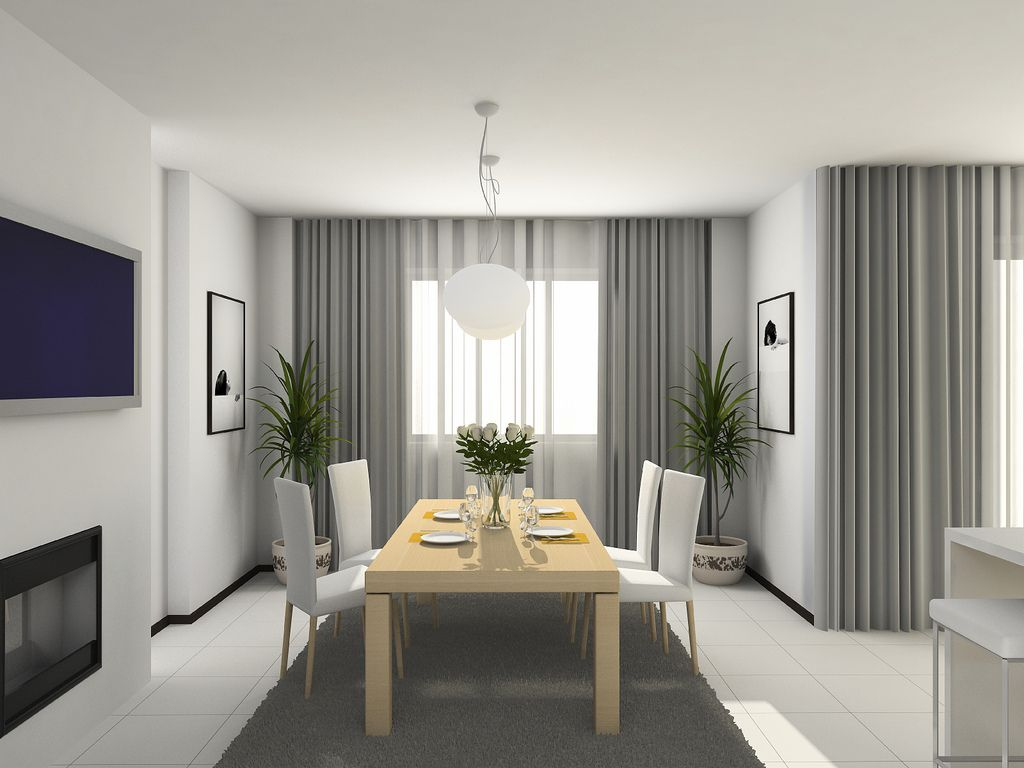 Depiction of interior with sheer curtain for undisguised for Modern living room curtains uk