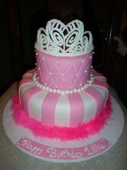Princess Birthday Cake Complete With Stunning Tiara Princess - Cake birthday princess