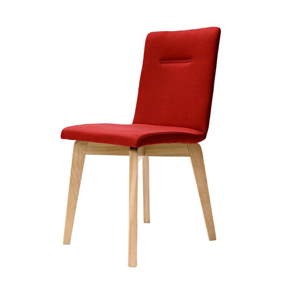 Stuhl in Rot Stoff Eiche Bianco Jetzt bestellen unter: https ...