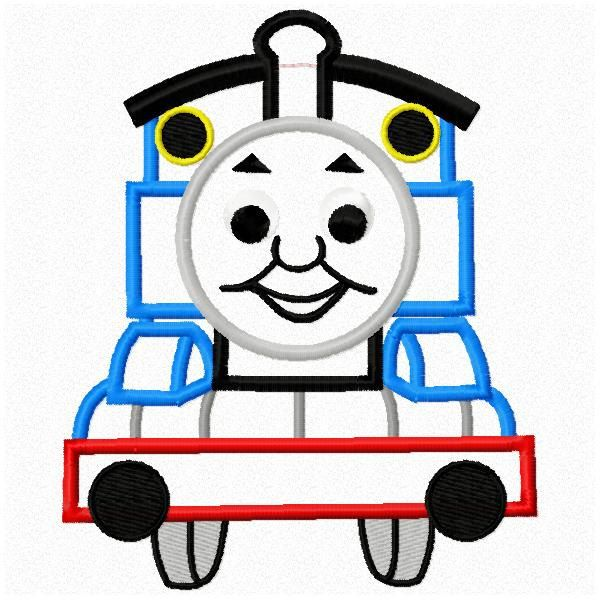 4x4 And 5x7 Thomas The Train Applique Machine Embroidery Applique