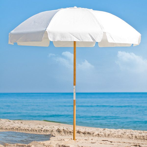 Pole Fibergl Vented Beach Umbrella