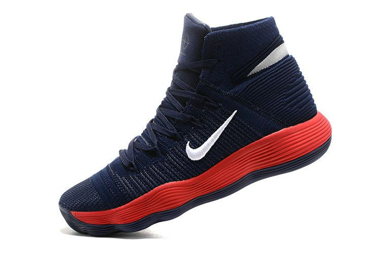 b35e13ee488f New Arrival Nike Hyperdunk 2017 Elite Flyknit Navy Blue University Red Mens  Basketball Shoes 2018 For