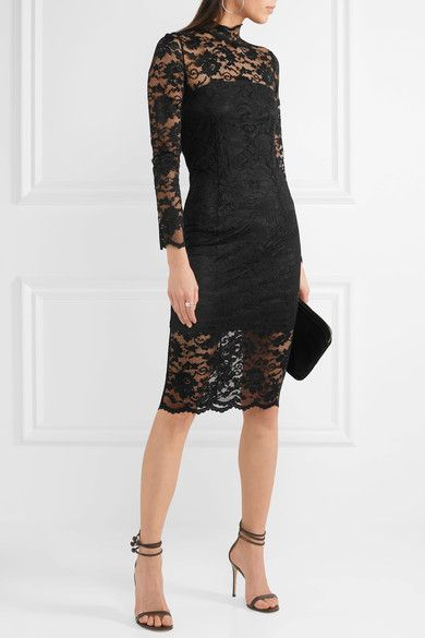 778a1545 GANNI - Flynn stretch-lace turtleneck dress | Products | Dresses ...