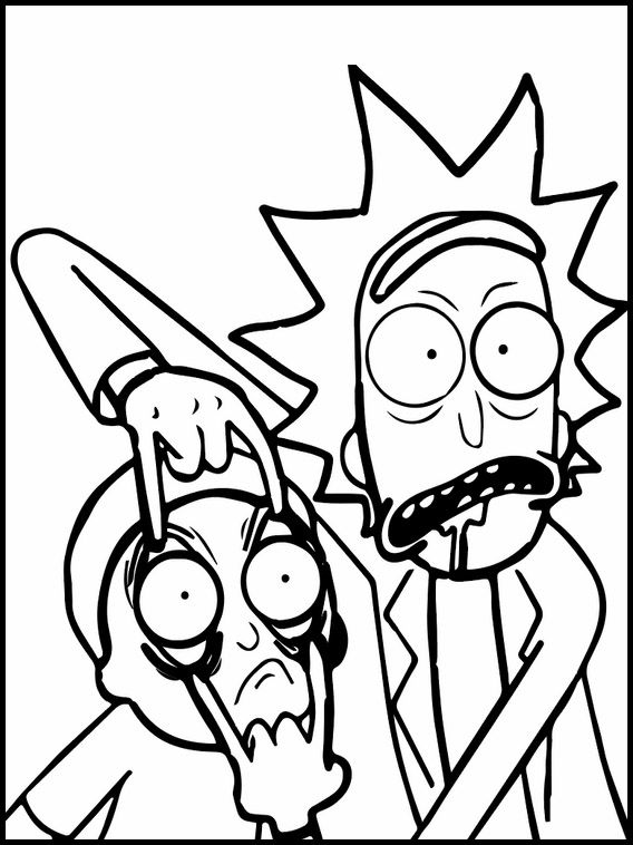 Rick and Morty 3 coloring pages for kids. Coloring pages ...