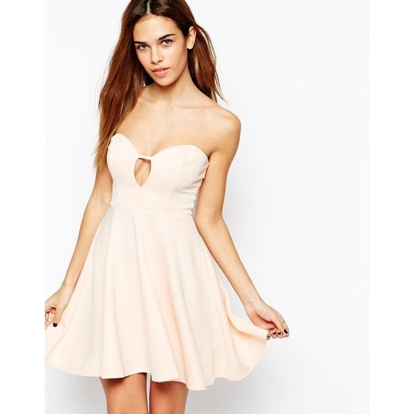 Oh My Love Strapless Skater Dress (6.515 HUF) ❤ liked on Polyvore