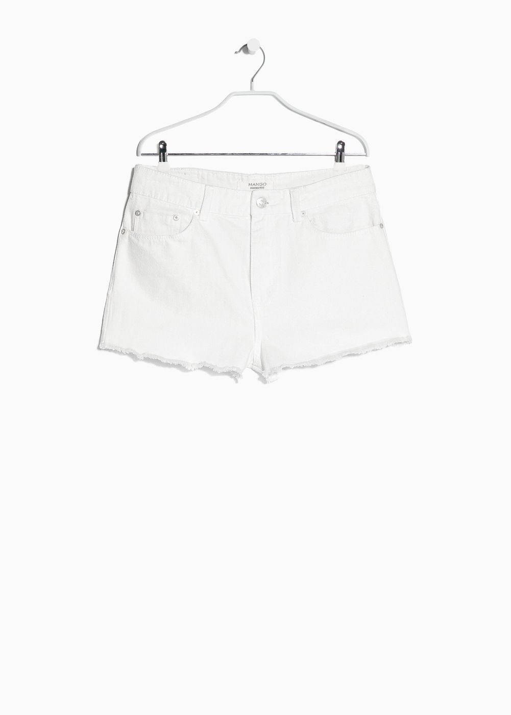 I WISH Short denim blanco