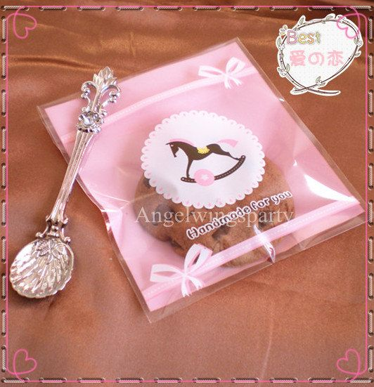 Pink hobbyhorse Kawaii Plastic Gift Wrapping by BoutiqueLoverHouse