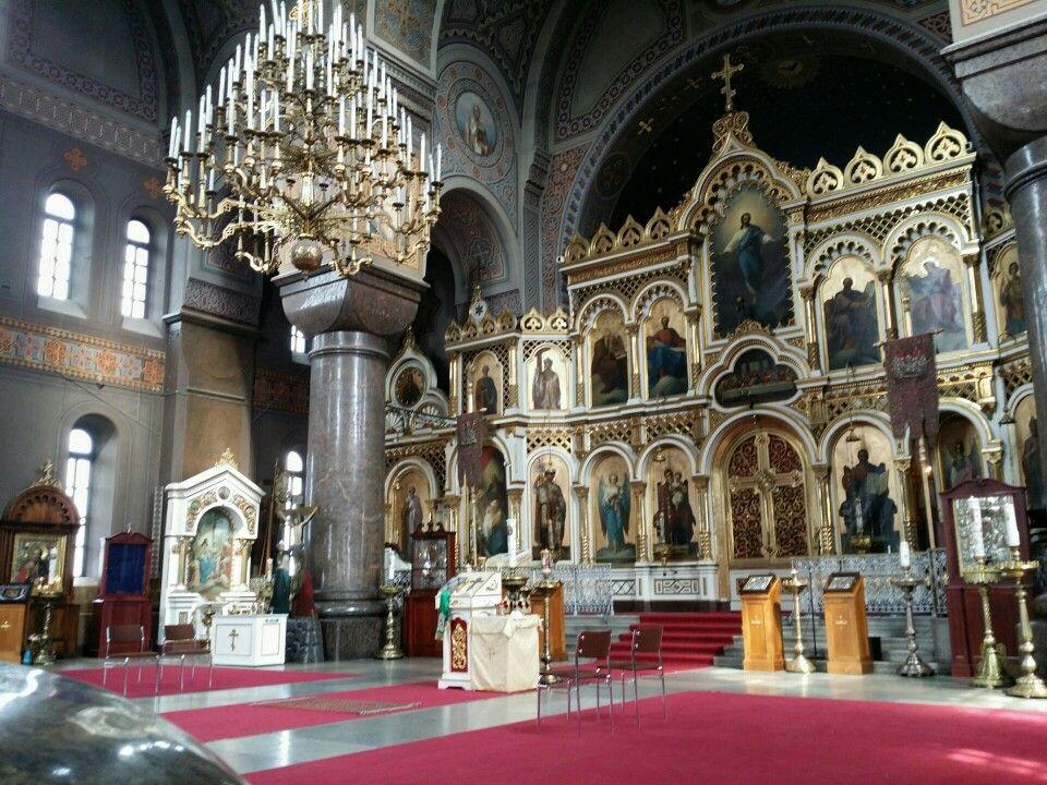 Inside the Uspenski Chatedral in Helsinki in 2015. Photo by Helena Roschier. #helenaroschier