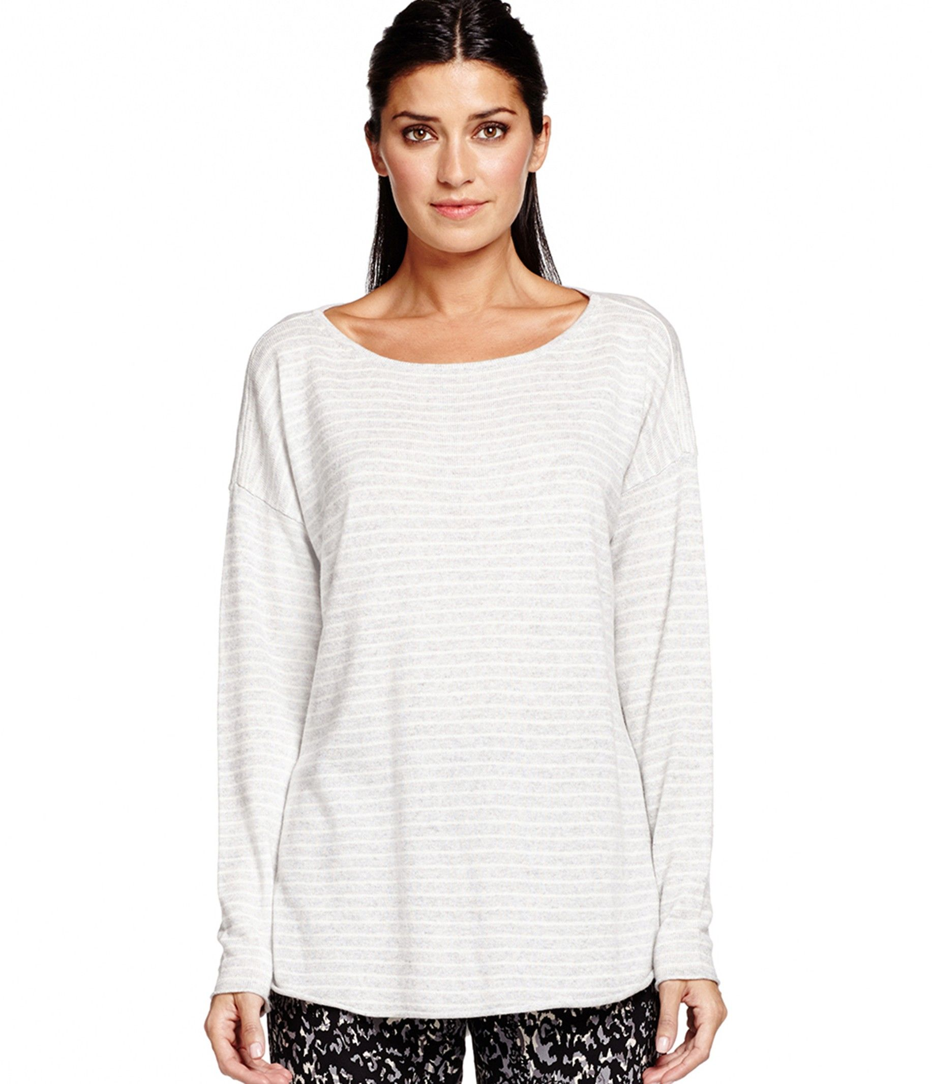 Long Sleeve Scoop Neck With Shirttail Hem