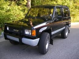 my 3rd car! a 1989 isuzu trooper rs 2 door. mine was red. my first
