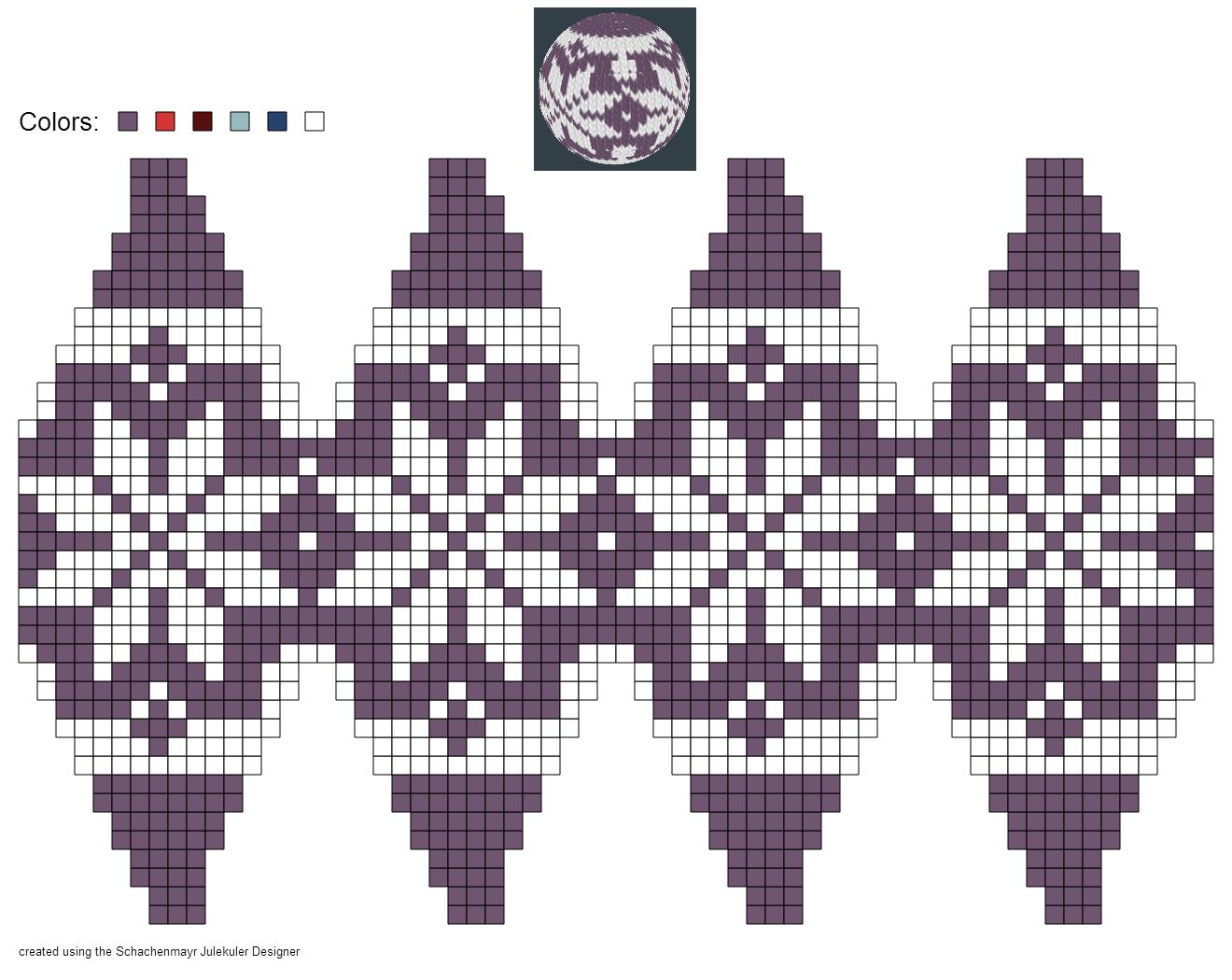 created using Schachenmayr #Julekuler Designer #christmas by Pawel Dolatowski
