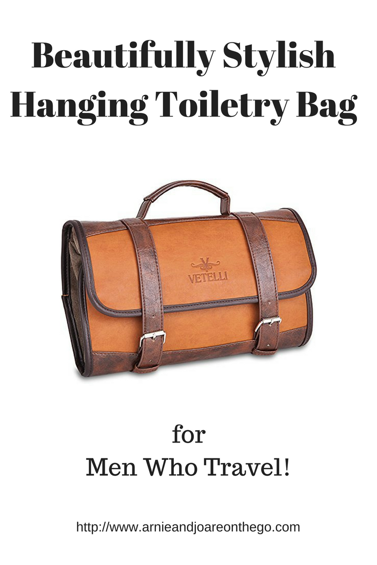 e7e4d8027086 This beautifully stylish hanging toiletry bag is just the thing for the man  that travels.
