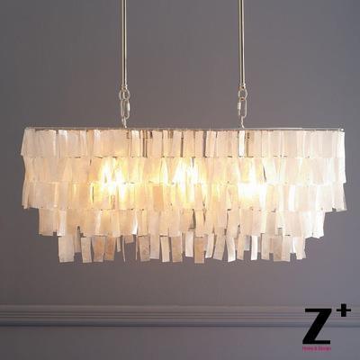 599 99 buy here led chandelier capiz shell rectangle modern lamp