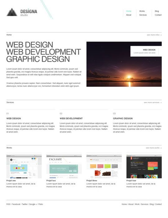 25 Free Minimal And Clean Style Xhtml Css Website Templates Css Website Templates Web Design Website Template