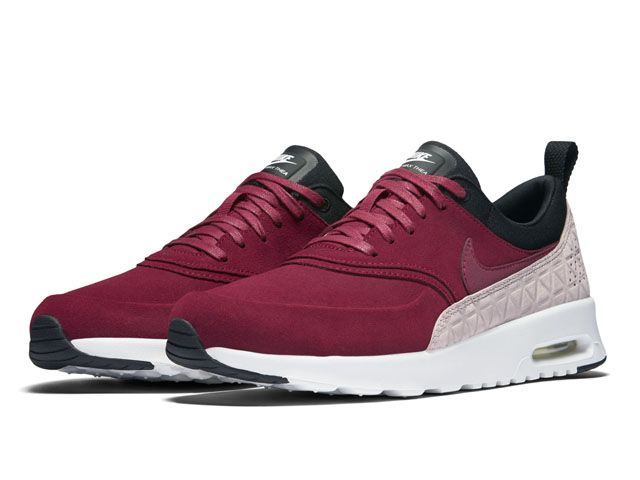 Nike Wmns Air Max Thea PRM LTH Noble Red Black (845062 600