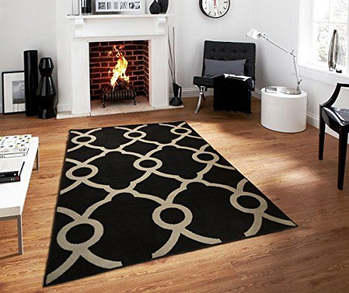 Modern Area Rugs 5x7 Rug For Living Room Under 50 Black Gray Rug