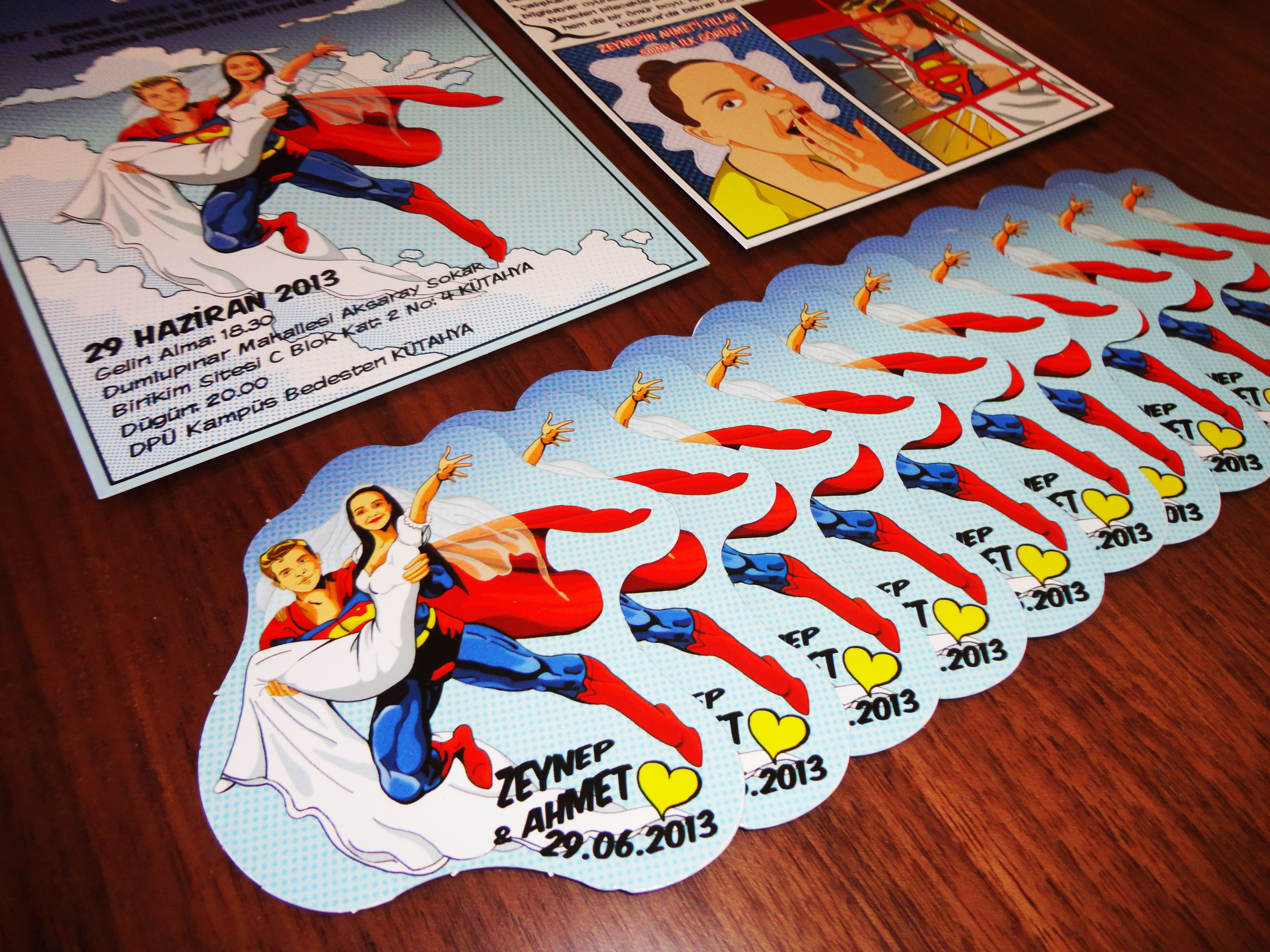 Superhero Comic Book Theme Wedding Invitation Favor Seating Chart Save The Date Table Numbers