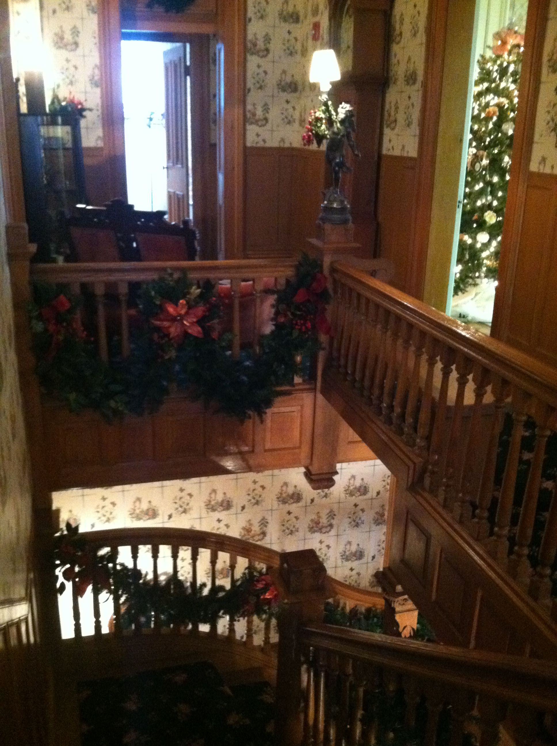 Grand Staircase . Reeves Home Dover Ohio Historic
