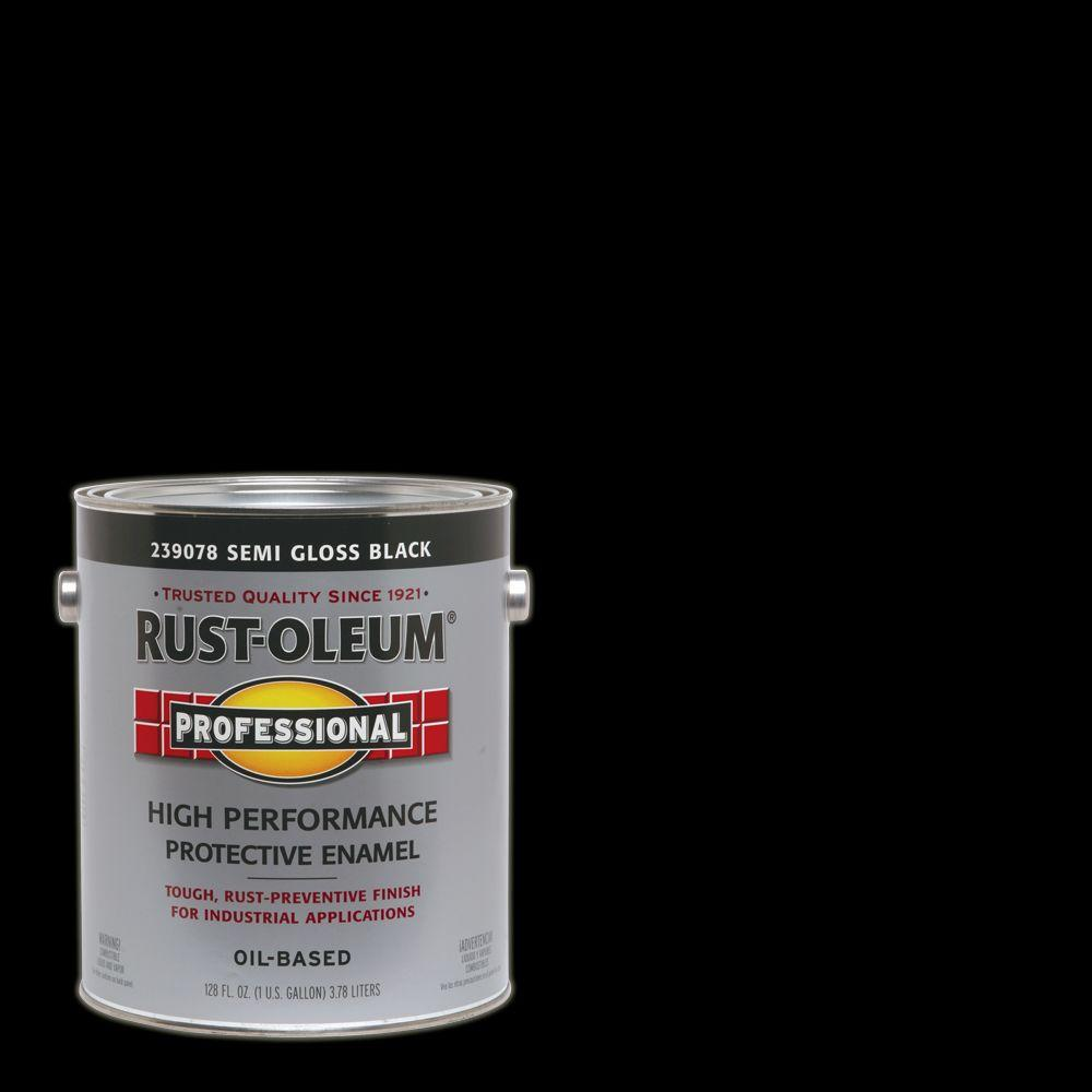 Rust Oleum Professional 1 Gal High Performance Protective Enamel Semi Gloss Black Oil Based Interior Exterior Industrial Paint 2 Pack 239078 How To Clean Metal Exterior Paint Gallon Of Paint
