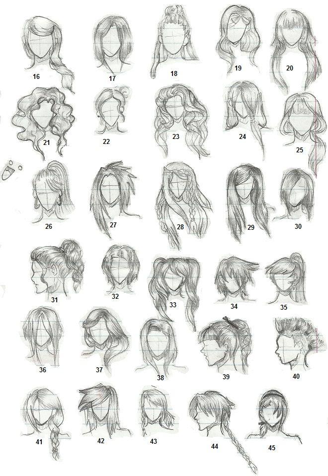 Hairstyles 2 by TapSpring352 on deviantART Hair sketch