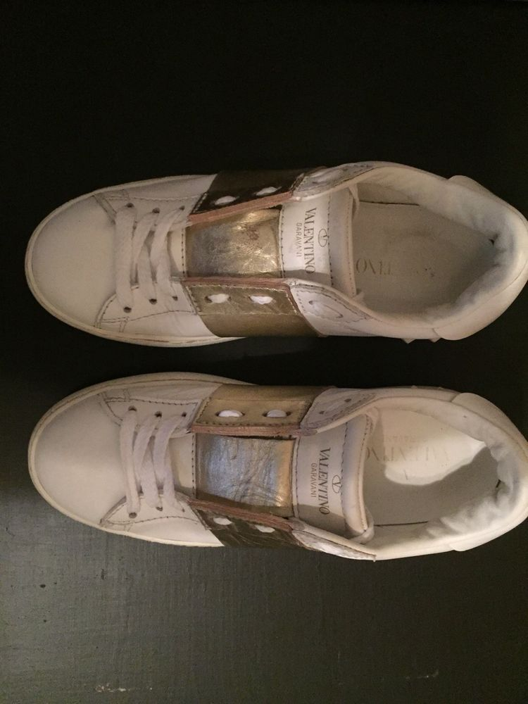 9ed96ea8f147 Valentino Garavani Rockstud Untitled White Sneakers NW2S0A01 BHS 0BO  Authentic.  fashion  clothing  shoes  accessories  womensshoes  flats