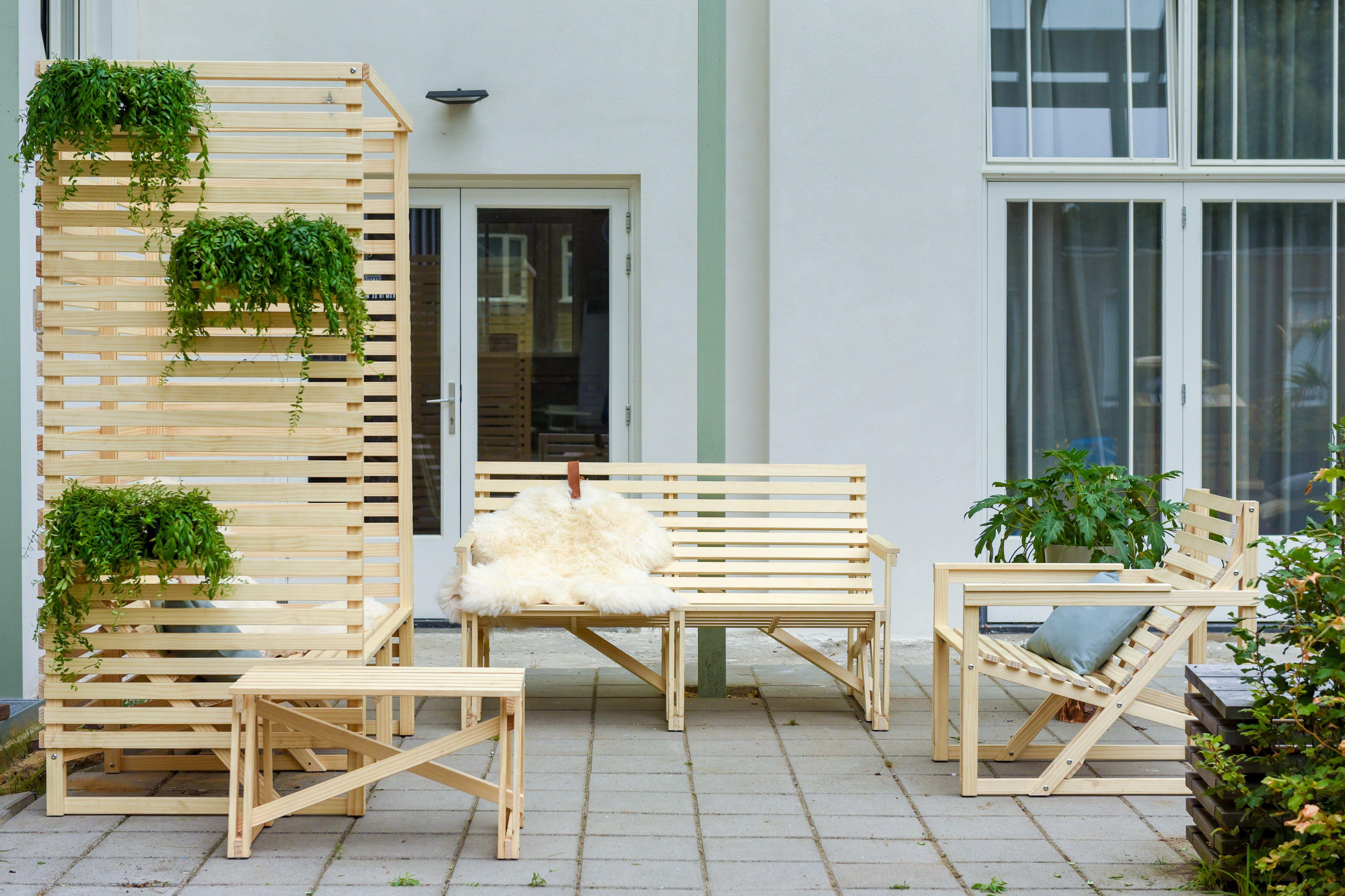 Luxe Schommelbank Hout.Patio High Back Weltevree Patioset Outdoor Furniture Sets