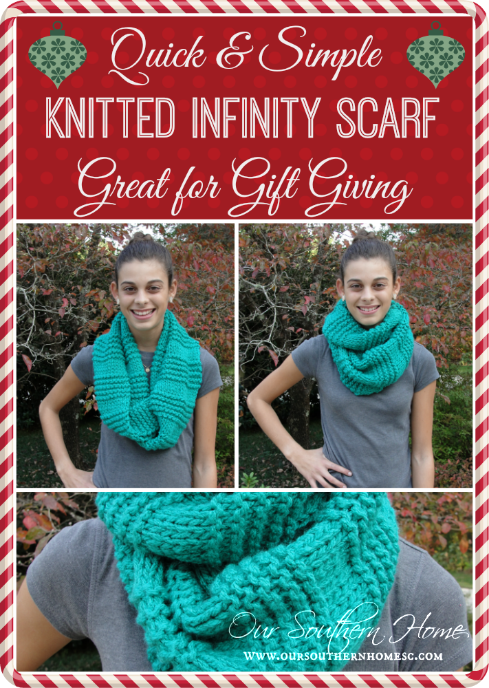 Quick & Easy Knitted Infinity Scarf | Infinity, Scarf patterns and ...