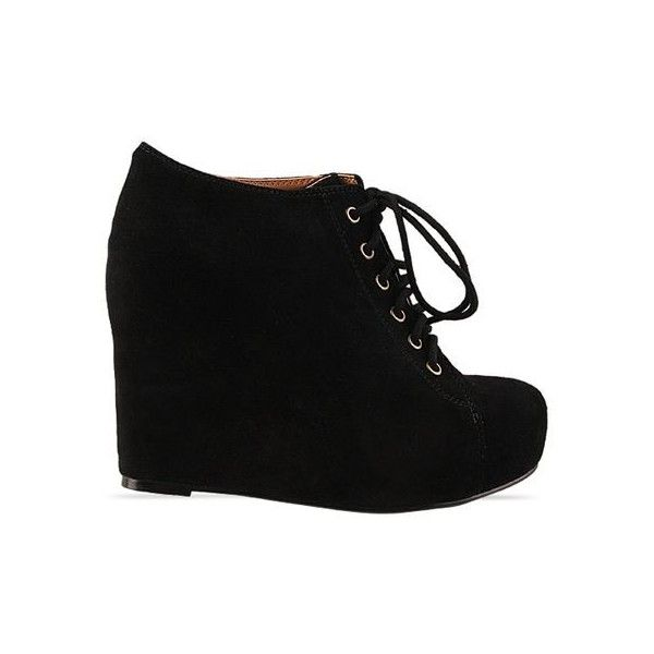 31227e99c867 Jeffrey Campbell - 99 Tie ❤ liked on Polyvore. Black Wedge ...