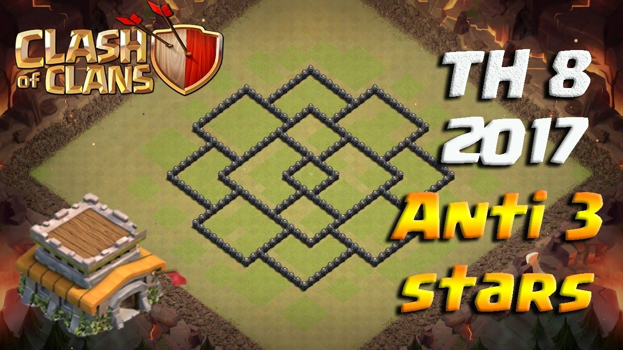 TH8 Clash of Clans 2017 WAR BASE База ТХ8 для КВ | Clash of Clans