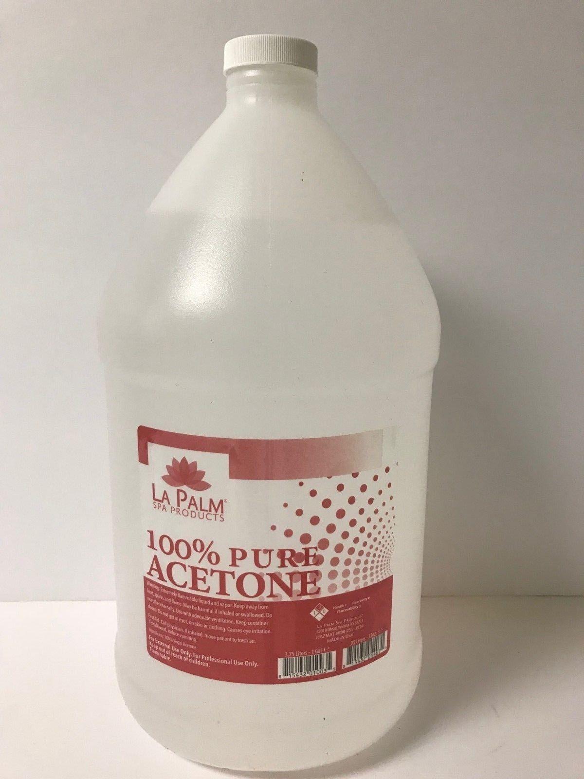 Nail Polish Remover 47940 La Palmacetone 100 Pure Gel And Lacquer Polish Remover 1 Gallon And 16 Fl Oz Buy It No Gel Lacquer Lacquer Polish Pure Products
