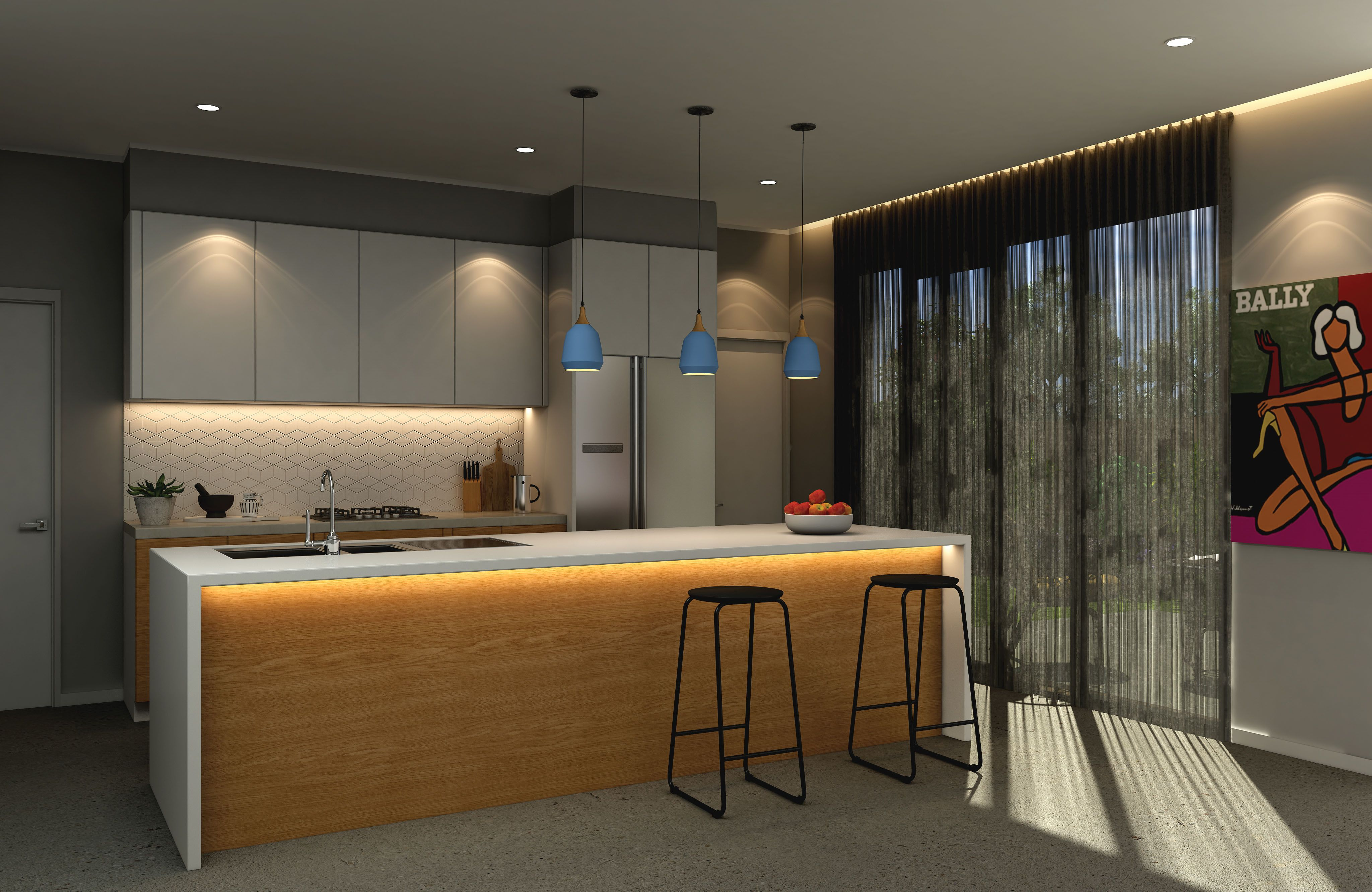 Transform your kitchen with light layering. Use downlights