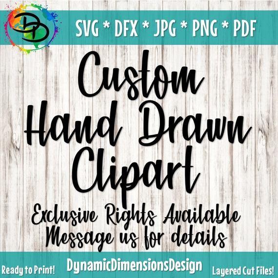 Items similar to Custom Hand Drawn Clipart SVG Fil