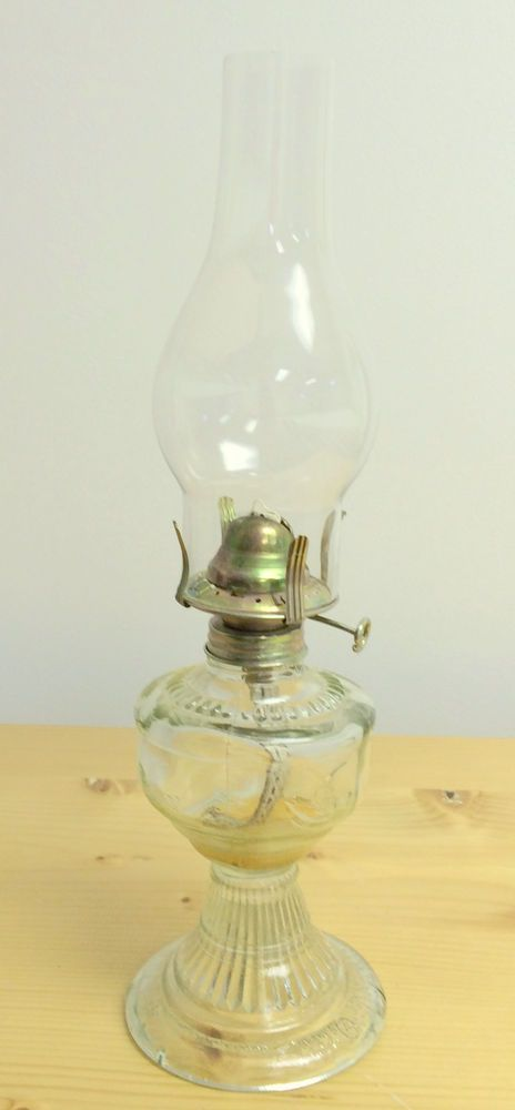 Vintage An Qing China Small Pressed Clear Glass Birds In Flight 13 Oil Lamp 2 Oil Lamps Glass Birds Clear Glass