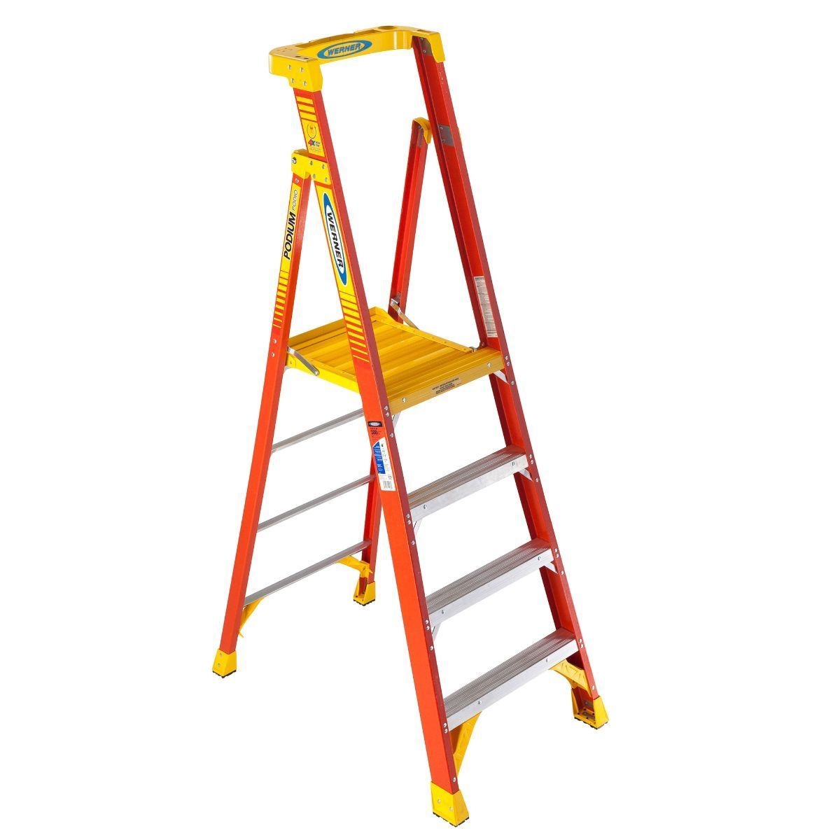 The Podium Ladder From Werner Takes Safety To New Heights Ladder Step Ladders Fiberglass