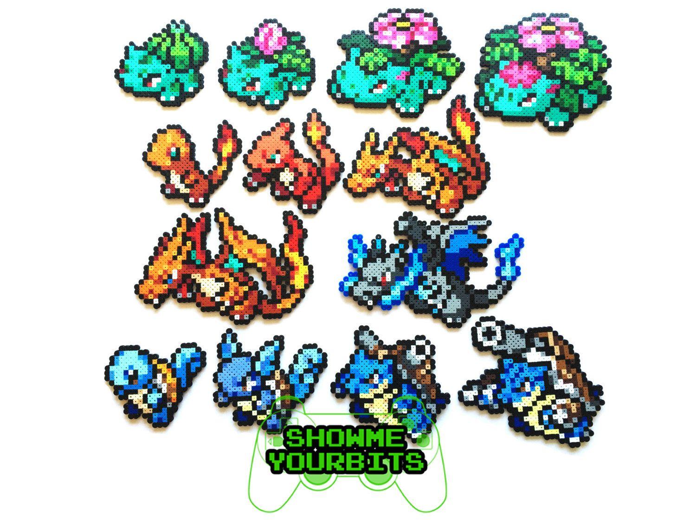 Pokemon Perler Generation 1 Starters And Mega Evolutions