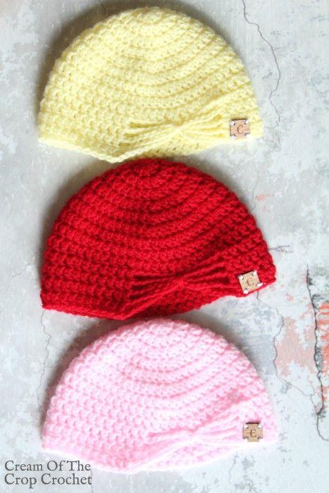 Butterfly Newborn Hat Crochet Pattern   Cream Of The Crop Crochet