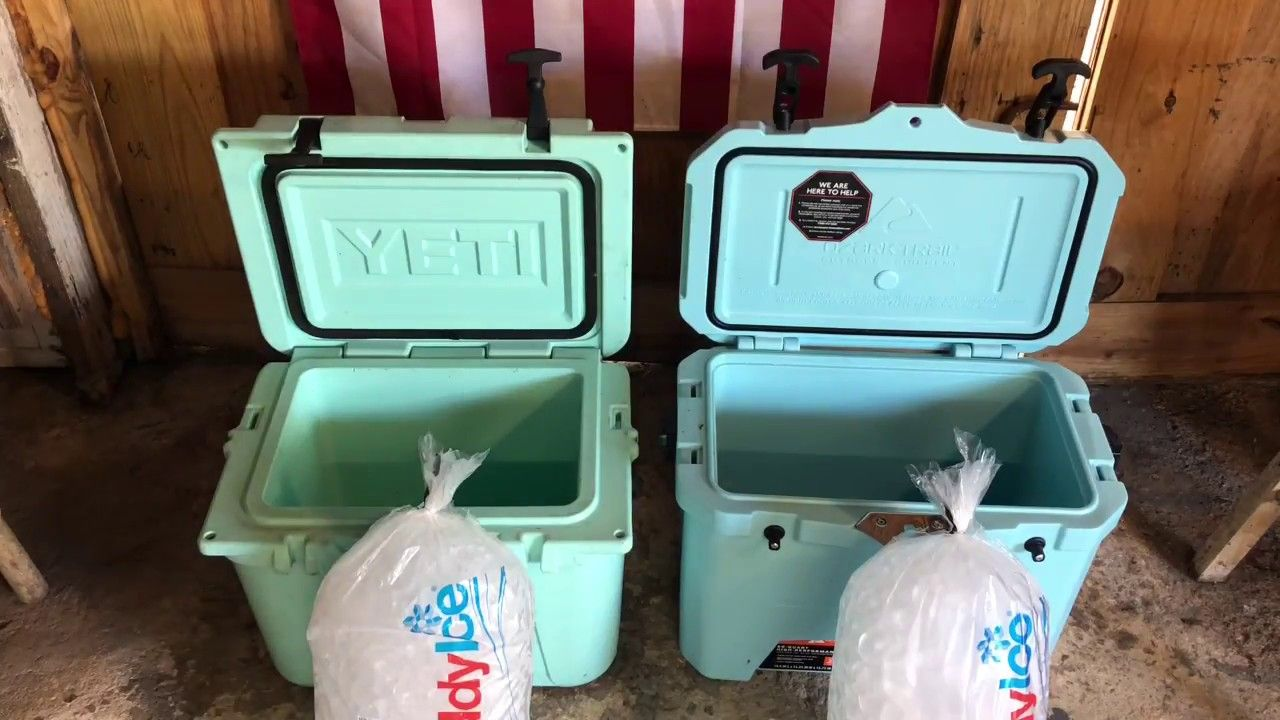 Yeti Roadie 20 Vs Walmart Ozark Trail Cooler Review And Ice Hold Test Youtube Ozark Trail Cooler Cooler Reviews Yeti Roadie