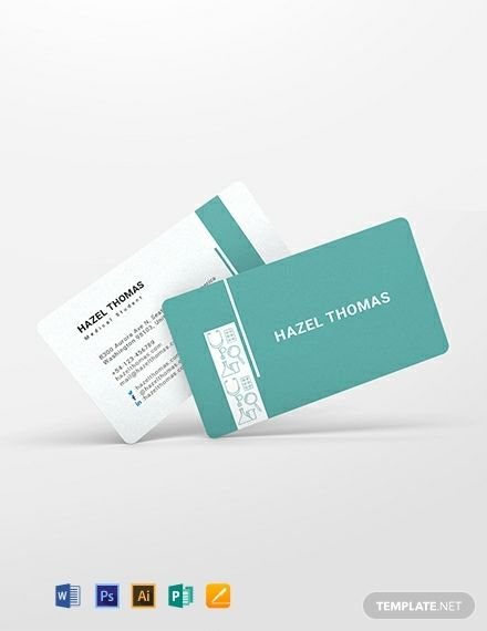 Medical Student Business Card Template in 2020 | Student ...