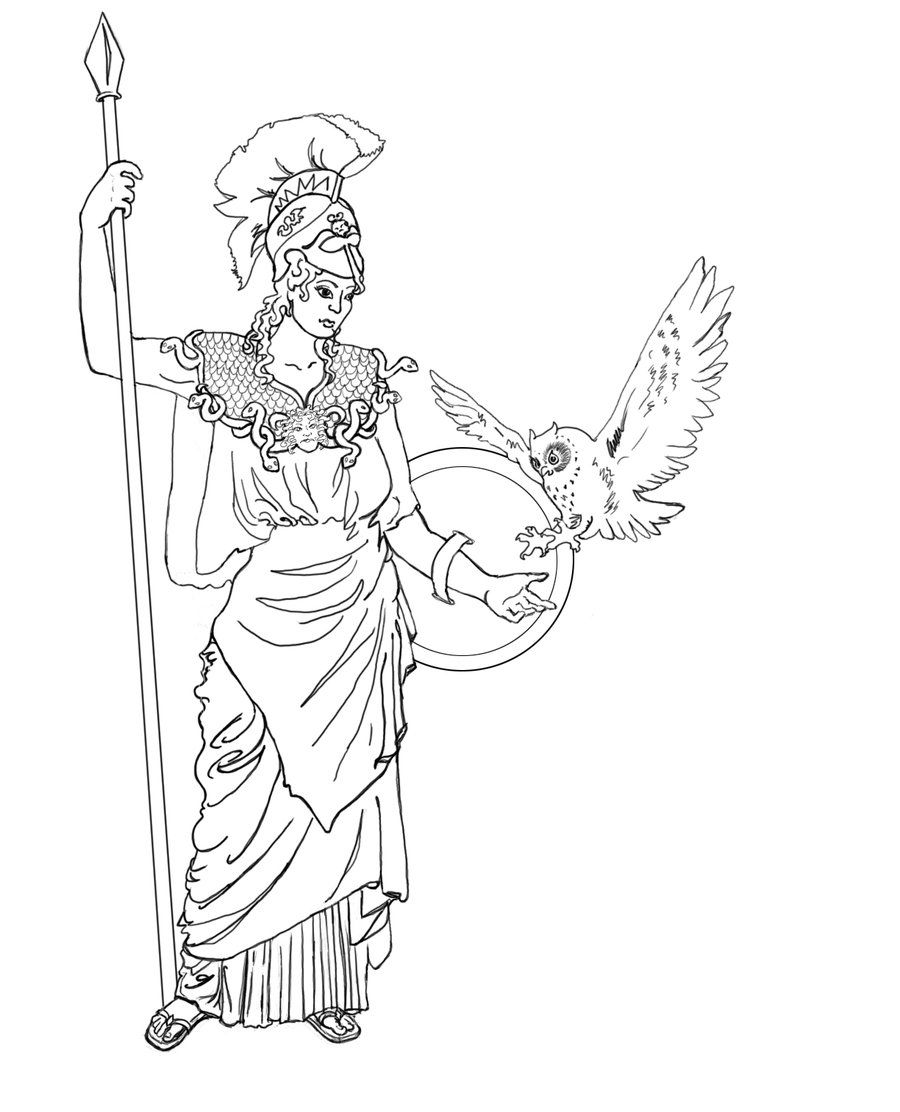 athena tattoo by radiogalaxy coloring pages pinterest athena