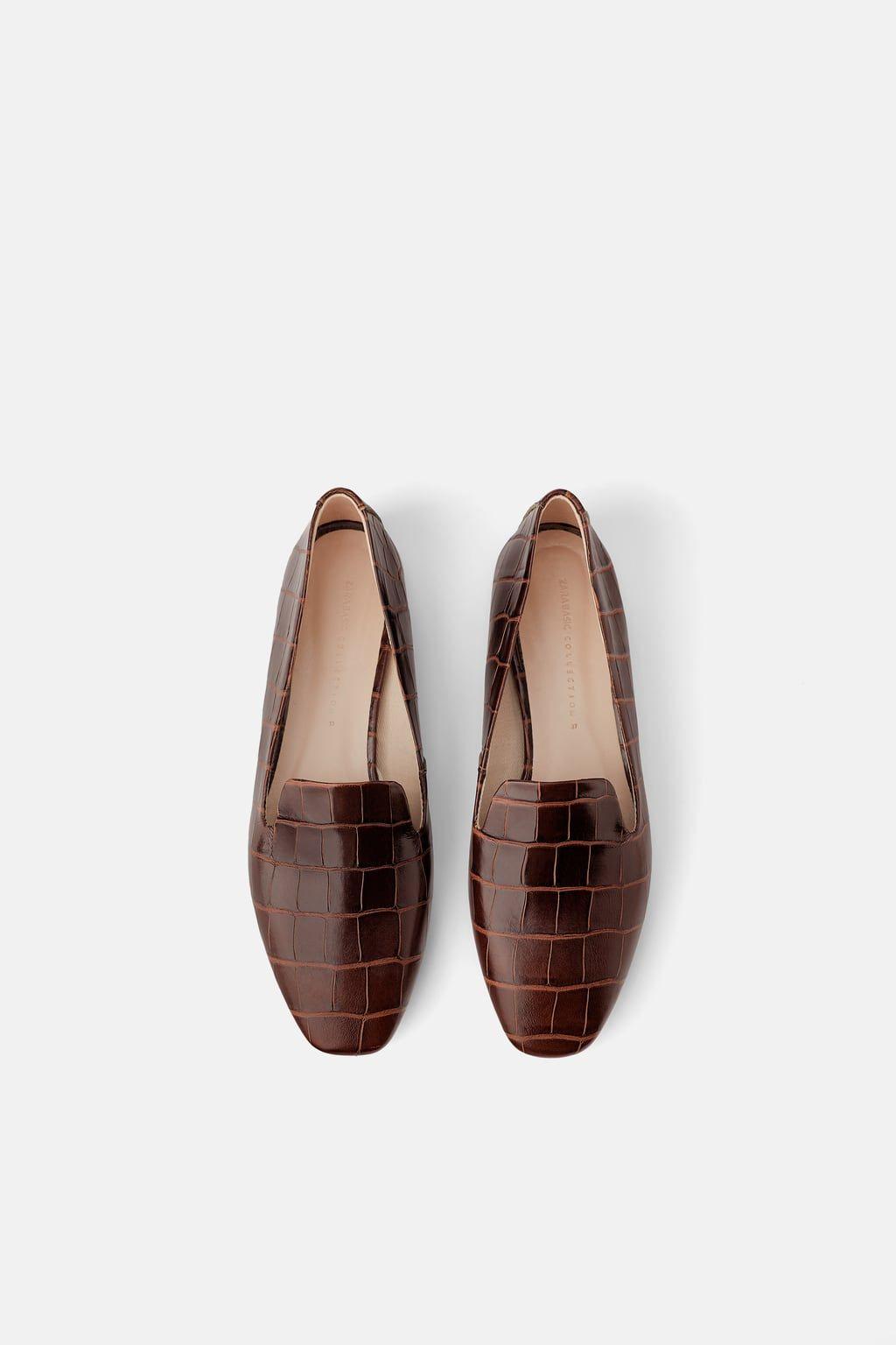 da734ede6ea Animal print leather flat shoes in 2019 | Style | Animal print flats ...