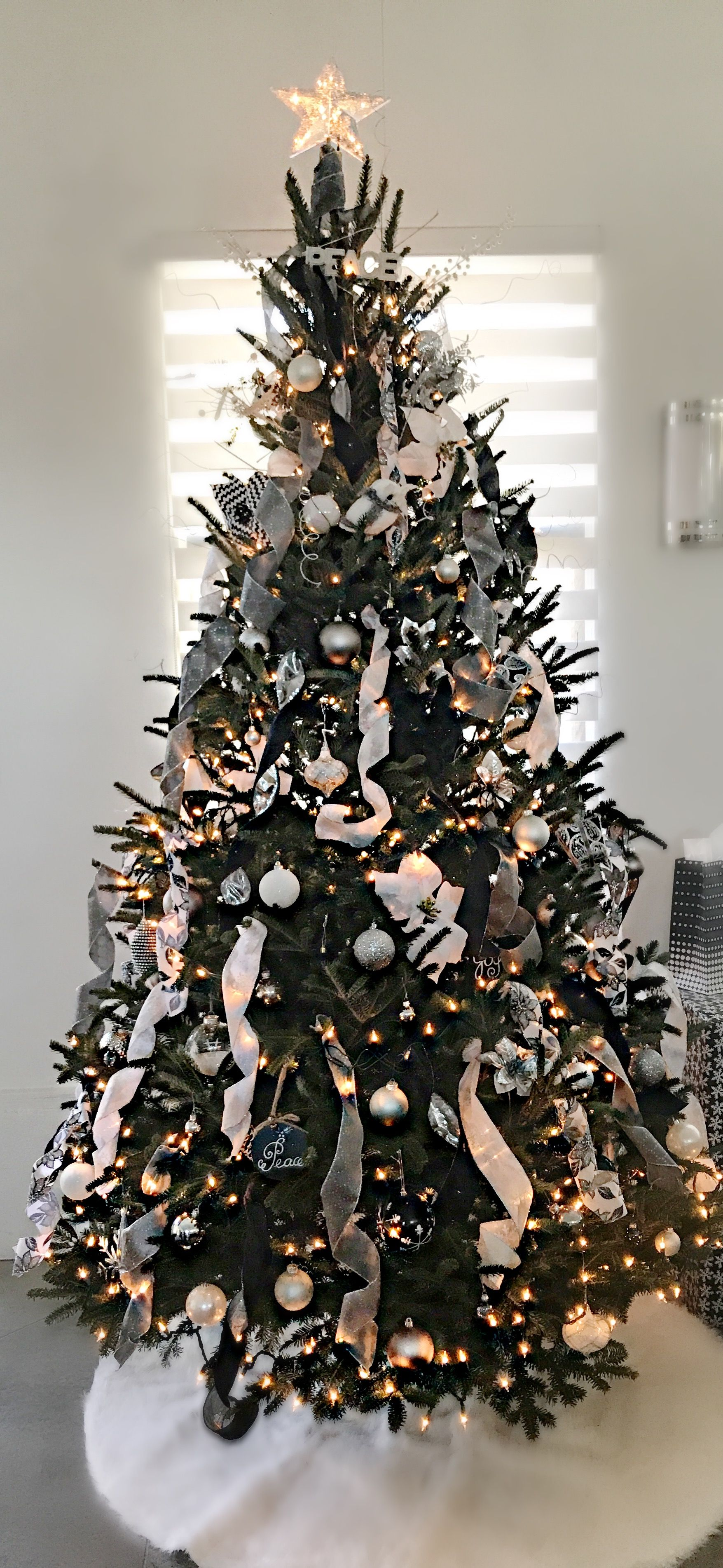 Black, White And Silver Christmas Tree